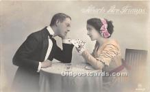 spo012636 - Old Vintage Gambling Postcard Post Card