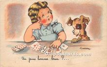 spo012641 - Old Vintage Gambling Postcard Post Card