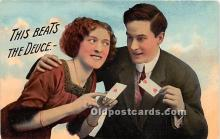 spo012644 - Old Vintage Gambling Postcard Post Card