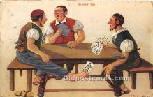 spo012649 - Old Vintage Gambling Postcard Post Card