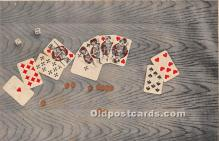 spo012661 - Old Vintage Gambling Postcard Post Card