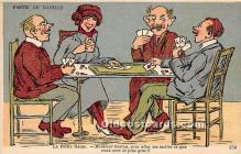 spo012672 - Old Vintage Gambling Postcard Post Card