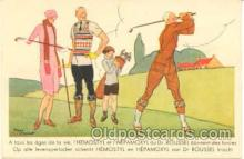 spo013180 - Artist Rene Vincent, Golf Postcard Postcards