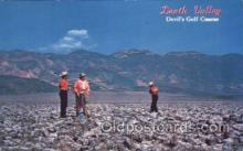 spo013329 - Death Valley, Devil's Golf Course, California, USA Golf Postcard Postcards