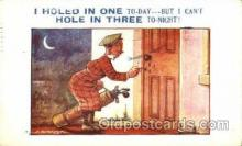 spo013366 - D.Tempest Golf Postcard Post Card