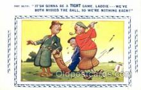 spo013373 - Golf Comic Old Vintage Antique Postcard Postcards