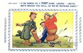 spo013374 - Golf Comic Old Vintage Antique Postcard Postcards