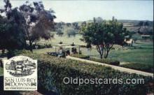 spo013398 - San Luis Rey Downs Golf And Tennis Resort, Bonsall, CA USA Golf, Golfing Postcard Post Card Old Vintage Antique