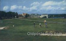 spo013423 - Across No 6 Green Towards Seabasco Lodge And Cottages, Seabasco Estates, ME USA Golf, Golfing Postcard Post Card Old Vintage Antique