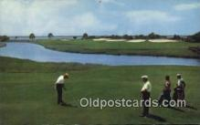 spo013427 - Teeing Off At The 13th, Sea Island Golf Club, Sea Island, GA USA Golf, Golfing Postcard Post Card Old Vintage Antique