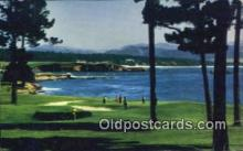 spo013429 - Pebble Beach, Monterey Peninsula, CA USA Golf, Golfing Postcard Post Card Old Vintage Antique