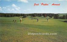 spo013600 - Old Vintage Golf Postcard Post Card