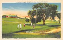 spo013618 - Old Vintage Golf Postcard Post Card