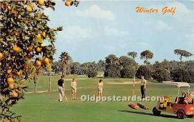spo013635 - Old Vintage Golf Postcard Post Card