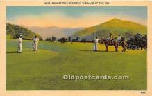 spo013648 - Old Vintage Golf Postcard Post Card