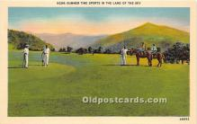 spo013655 - Old Vintage Golf Postcard Post Card