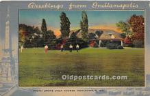 spo013656 - Old Vintage Golf Postcard Post Card