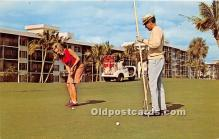 spo013657 - Old Vintage Golf Postcard Post Card