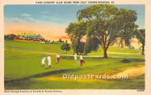 spo013670 - Old Vintage Golf Postcard Post Card