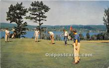 spo013711 - Old Vintage Golf Postcard Post Card