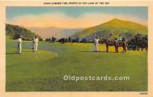 spo013712 - Old Vintage Golf Postcard Post Card