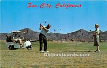 spo013715 - Old Vintage Golf Postcard Post Card