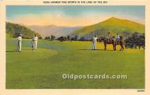 spo013721 - Old Vintage Golf Postcard Post Card