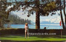 spo013743 - Old Vintage Golf Postcard Post Card