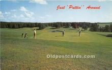 spo013755 - Old Vintage Golf Postcard Post Card