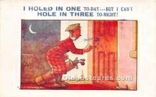 spo013803 - Old Vintage Golf Postcard Post Card
