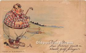spo013809 - Old Vintage Golf Postcard Post Card