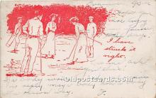 spo013824 - Old Vintage Golf Postcard Post Card