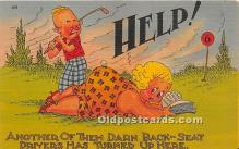 spo013831 - Old Vintage Golf Postcard Post Card