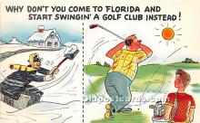 spo013835 - Old Vintage Golf Postcard Post Card