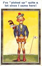 spo013849 - Old Vintage Golf Postcard Post Card
