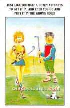 spo013852 - Old Vintage Golf Postcard Post Card