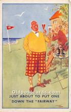 spo013857 - Old Vintage Golf Postcard Post Card