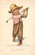 spo013858 - Old Vintage Golf Postcard Post Card