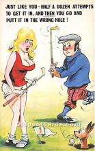 spo013862 - Old Vintage Golf Postcard Post Card