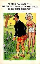 spo013866 - Old Vintage Golf Postcard Post Card
