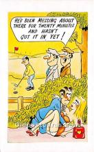 spo013877 - Old Vintage Golf Postcard Post Card
