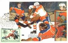 spo014068 - Russian Olympic, Sport, Sports Hockey, Postcard Postcards
