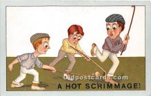 spo014098 - Old Vintage Hockey Postcard Post Card