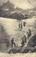 spo016036 - Traverse DU Glacier Des Bossons  Ski, Skiing Postcard Post Card Old Vintage Antique