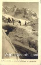 spo016037 - 12160 Chamonix Caravane Sur Le glacier Du Geant Et L'aiguile Ski, Skiing Postcard Post Card Old Vintage Antique