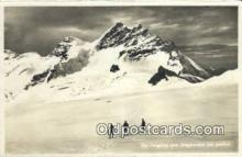 spo016043 - Die Jung Vom Jungfraunfirn Aus Geshen Ski, Skiing Postcard Post Card Old Vintage Antique