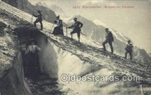 spo016044 - 5432 Eigergletcer Eingang Zur Eishohle Ski, Skiing Postcard Post Card Old Vintage Antique
