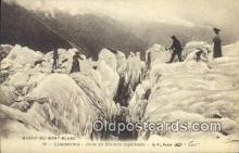 spo016045 - Massif u Mont Blanc Ski, Skiing Postcard Post Card Old Vintage Antique