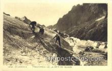 spo016046 - Chamonix Ski, Skiing Postcard Post Card Old Vintage Antique