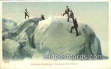 spo016050 - Cgietscher Besteigung  Ski, Skiing Postcard Post Card Old Vintage Antique